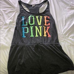 Love pink romper